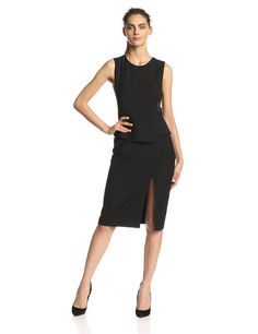 Megaen Side Lace-Inset Cocktail Dress by BCBGMAXAZRIA