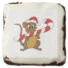 Christmas Mouse Brownies Brownie http://www.zazzle.com/christmas_mouse_brownies_brownie-256978036256682848?rf=238271513374472230  #christmas #ediblegifts #christmasideas