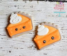 615f6d7fbbd2 Kawaii Pumpkin Pie Slice. The Sweet Designs Shoppe