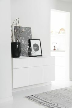 White cabinet in the hallway