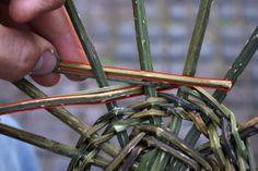 Weaving a basic basket Paper Basket Weaving, Sculpture Lessons, Rope Basket, Bramble, Homesteading, Garden Ideas, How To Make, Crafts, Diy
