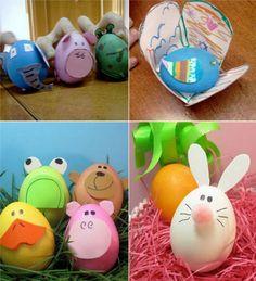huevos de Pascua con formas de animales