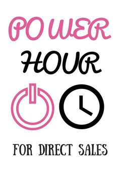 Power Hour I am sure you have heard it before, but may not know how to implement it or how it would benefit your business. Fear not, I am going to explain, outline a schedule, and give detailed ex… Direct Sales Games, Direct Sales Party, Direct Sales Companies, Direct Sales Tips, Direct Selling, Direct Sales Recruiting, Direct Sales Organization, Business Organization, Marketing Blog