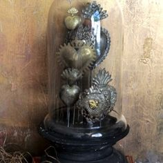 Tin Sacred Heart On A Stand | Heart Decor