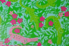 The Designing Doc: Can't Get Enough of that Classic Pink and Green  DIY Lilly Pulitzer Print Painted Canvases