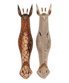 Carved Mask Set #zulily #zulilyfinds