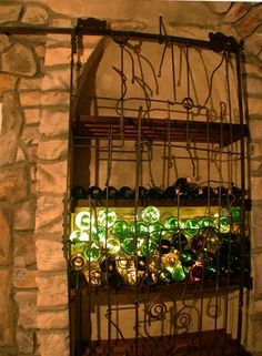 Schiebe - Gitter für Weinkeller - Weinkellertür