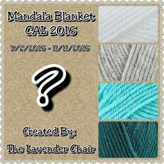 Mandala Blanket CAL 2016 – The Lavender Chair Crochet Squares, Crochet Motif, Free Crochet, Crochet Crowd, Crochet Summer, Granny Squares, Mandala Blanket, Mandala Rug, Flower Mandala