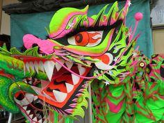Chinese Dragon Dance  Neon Dragon
