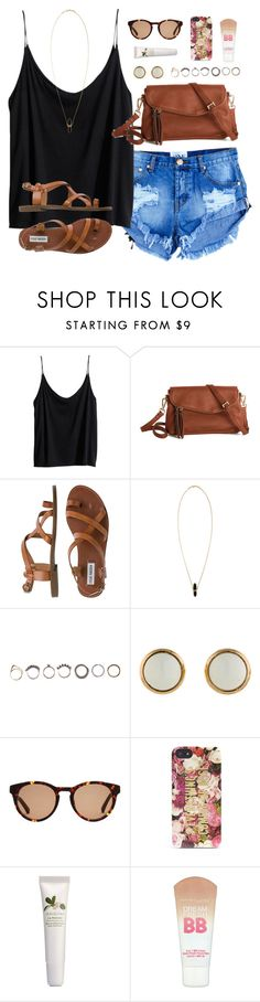 """:~)"" by classically-preppy ❤ liked on Polyvore featuring H&M, Steve Madden, Isabel Marant, Iosselliani, Hermès, Linda Farrow, Kate Spade, Origins and Maybelline"