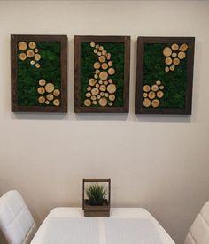 Live moss Wall hanging Wall art Eco Art Moss in frame Hanging Wall Art, Diy Wall Art, Diy Wall Decor, Moss Wall Art, Moss Art, Nature Crafts, Home Crafts, Cork Wall, Green Wall Art