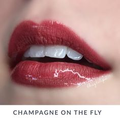 Fly Girl + Beige Champagne #LipSense, great shade for fall, natural red lips, lasts all day