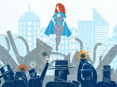 Another piece for Funny or Die's magazine The Occasional. Check out the animated version here http://www.theoccasional.com/content/the-adventures-of-a-female-super-hero