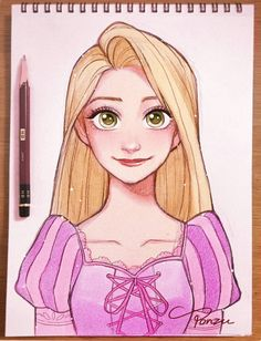 31 Ideas Painting Disney Characters Rapunzel For 2019 Disney Drawings Sketches, Cute Disney Drawings, Disney Princess Drawings, Disney Princess Art, Art Drawings Sketches Simple, Cute Drawings, Drawing Disney, Drawings Of Disney Characters, Music Drawings