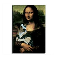 Mona LIsa with her Jack Russell