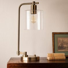 Hudson Industrial Table Lamp - Antique Brass - Threshold™ : Target