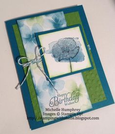 Happy Watercolor - FM142 & MOJO328 by stampingshelle - Cards and Paper Crafts at Splitcoaststampers
