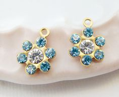 Swarovski Crystal Light Sapphire Clear by alyssabethsvintage, $2.80