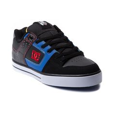 Mens DC Pure Travis Pastrana Skate Shoe in Black at Journeys Shoes.