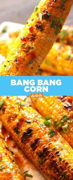 Bang Corn This Bang Bang Corn is seriously BANGIN'. Get the recipe from .This Bang Bang Corn is seriously BANGIN'. Get the recipe from . Corn Recipes, Side Dish Recipes, Vegetable Recipes, Mexican Food Recipes, Vegetarian Recipes, Healthy Recipes, Quick Recipes, Shrimp Recipes, Side Dishes