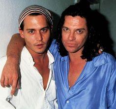Johnny Depp and Michael Hutchence