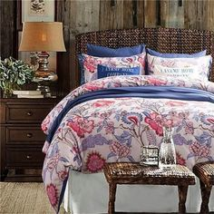 Quality Luxury Cotton European Queen/King 4-PC Bedding Set 20 Styles 2 Sizes