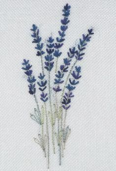 Lavender embroidery. I grow lots of lavendar, dry it and use it for bouquets and sachets. My linen sachets will look great with this embroidery.