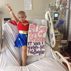 3-Year Old Kicks Cancer's Butt And Celebrates As Wonder Woman [Cosplay]
