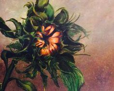 Ana's Sunflower by O Miller  Acrylic on canvas