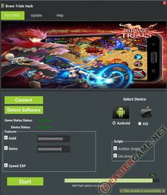 Unlimited Gold, Gems, Speed EXP in Brave Trials  Download Brave Trials Cheats:  http://easiergame.net/brave-trials-cheat-hack-ios-android-2014/