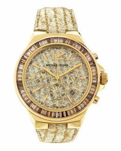 f040d83ffd7 Lizard-Strap Yellow Golden Watch by Michael Kors at Neiman Marcus Last  Call. Paisajes