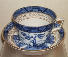 VINTAGE BOOTHS REAL OLD WILLOW GILT TRIM CUP & SAUCER