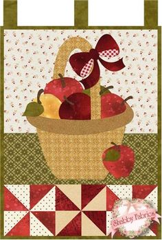 Little Blessings - Apple Basket Pattern: Full Set of 12 patterns available here - buy all 12 and save 20%!Let the Little Blessings bring you cheer all year long!  Jennifer Bosworth of Shabby Fabrics has created this wallhanging series using some of her favorite designs from previous quilts as well as adding new ...