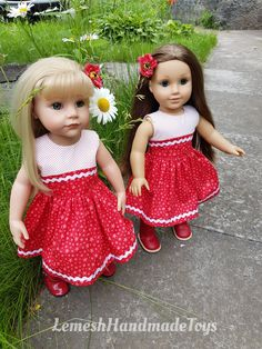 American Girl Crafts, American Doll Clothes, Girl Doll Clothes, American Girls, Gotz Dolls, Flower Girl Dresses, Doll Dresses, 18 Inch Doll, Doll Toys