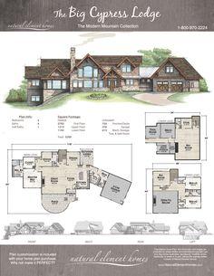 Plan Details – Natural Element Homes Modern Floor Plans, Cabin Floor Plans, Mountain House Plans, Modern Mountain Home, Mountain Cabins, Sims House Plans, New House Plans, Modern Lodge, Suburban House