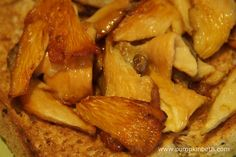 A close up of my home-grown garlic mushrooms on toast!