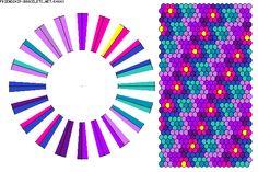 K4843 - friendship-bracelets.net.                      40 strings / 9 colours
