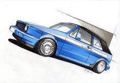 - by John Bridge Vw Mk1, Volkswagen Golf, Golf Cabrio, Most Popular Cars, Ferrari 288 Gto, Car Tattoos, Industrial Design Sketch, Vw Cars, Car Sketch