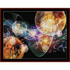Fractal 450 Cross Stitch Pattern By Cross Stitch Collectibles