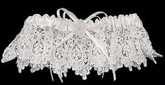 Venise Lace Garter. Large Sizes & Sets Available. White or Ivory.