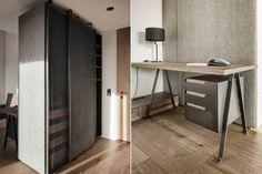 by Gogl Architekten Bespoke Furniture, Modern Furniture, Steel Cabinet, Corner Desk, Felt, Study, Interior Design, Closet, Home Decor