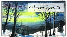 """""""Aurora Borealis"""" (14/300) Watercolor painting on paper of the northern ..."""