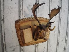 Deer headvintage plastic hunting trophy by ProfessorVintage