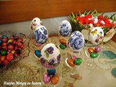 Πασχαλινά αυγά ντεκουπάζ - Γιαγιά Μαίρη Εν Δράσει Eggs, Easter, Egg