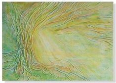 Tree Painting Green Painting Sunrise Sunshine by AnnaKisArt #greenpainting, #leathergift, #sunrisepainting, #abstractlandscape, #homedecor, #walldecor, #wallart, #leatherart, #leatherpainting, #sunshinepainting