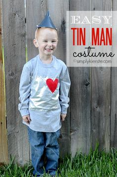 Try this easy, quick, inexpensive, and darling Tin Man Costume!!
