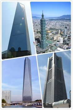 Four architectural highlights of east Asia. The tallest buildings of which four countries do you find below?