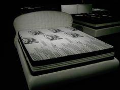Materasso #AbsolutePermaflex modello Empire, con 6000 molle indipendenti... abbinato al letto linea #AbsoluteBed modello Eclisse