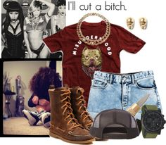 """""""No I'm not myself..."""" by deathbydesigner ❤ liked on Polyvore"""