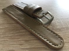 Your place to buy and sell all things handmade Leather Keyring, Watch Straps, Vegetable Tanned Leather, Vintage Watches, Vintage Leather, Tan Leather, Watch Bands, Minimalist, Unique Jewelry
